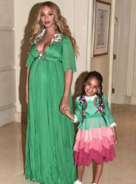 Beyonce and Blue Ivy at the Beauty and the Beast