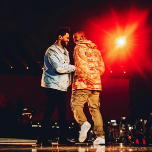 The Weeknd and Drake at London's O2 Arena